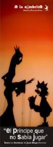 El Príncipe que no Sabía Jugar - A la Sombrita - Teatro de Sombras - Marcapágina