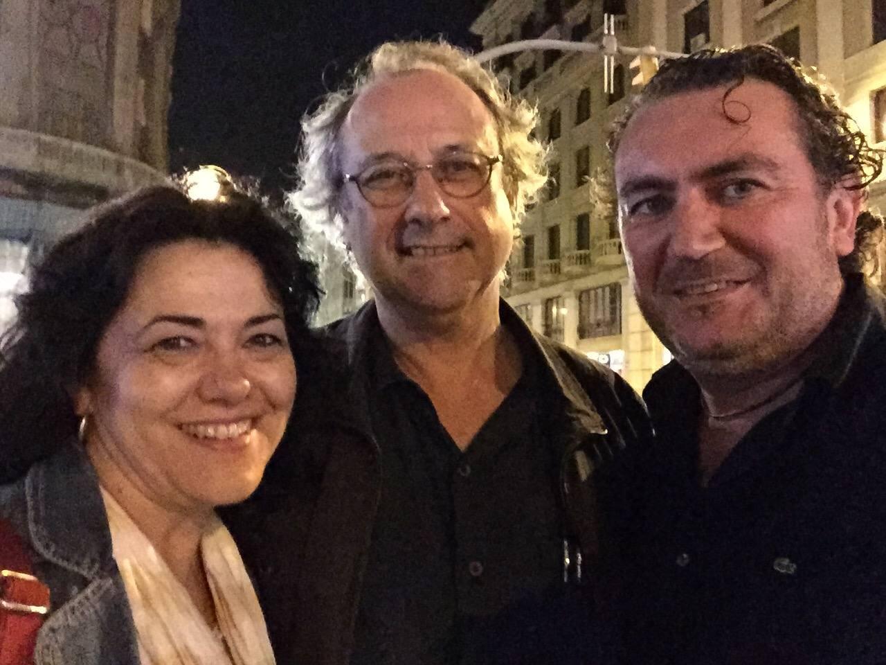 Luz Riego, Toni Rumbau y Jose Diego