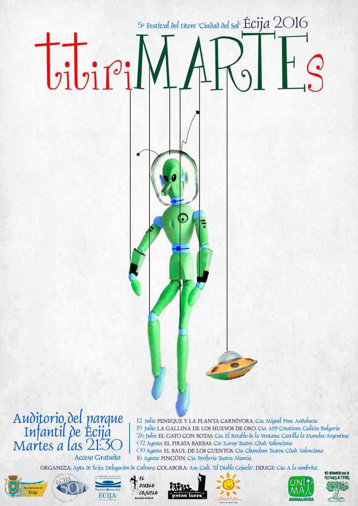 5 Edición titiriMARTES. del 12 de julio al 16 de agosto de 2016