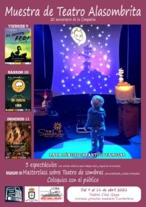 cartel Festival Teatro AlaSombrita en Lora del Río