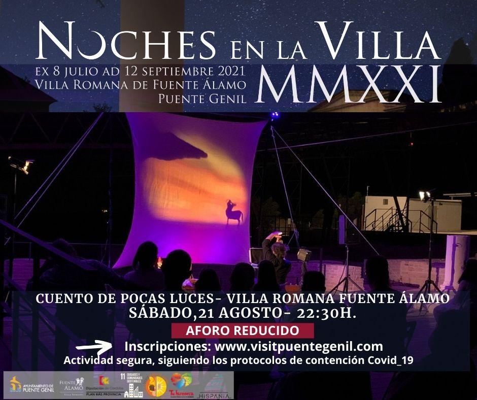 Carte Cartel Cuento-pocas-luces-Villa Romara Fuente Alamo