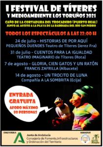 I Festival de Titeres y Mediambiente Los Toruños 2021 Cartel